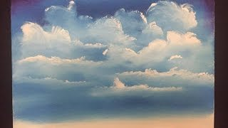 Painting Clouds in acrylics