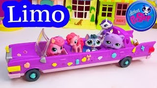 LPS Pet LIMO Limousine Hot Tub Car Littlest Pet Shop Ride With Friends My Little Pony Shopkins Fun