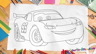 how to draw lightnig mcqueen