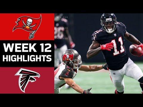 Buccaneers vs. Falcons | NFL Week 12 Game Highlights