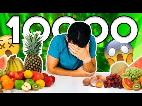 Reto de 10 000 calorías - Comida sana