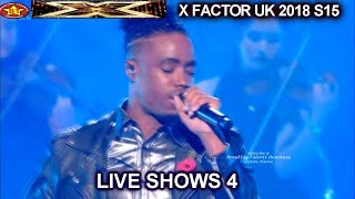 "Dalton Harris ""California Dreaming"" CROWD GETS WILD AGAIN The Boys | Live Show 4 X Factor UK 2018"