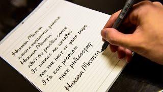 The Lion King - Hakuna Matata Disney Font Calligraphy
