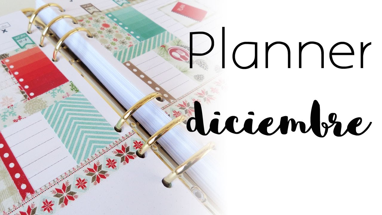 Planner diciembre 2016 | Plan with me | Planner
