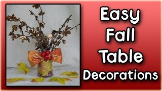Easy Fall Table Decorations
