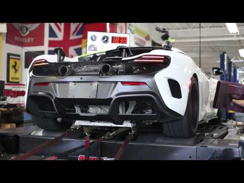 DYNO SESSION | McLaren 675LT With Fabspeed Sport Catalytic Converters + ECU Tune