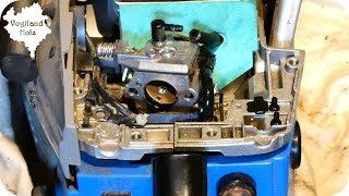 Kettensäge geht beim Gasgeben aus | Zerlegen und Reinigen Güde KS 450-46