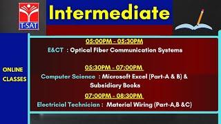 T-SAT || Intermediate Online classes | TSBIE | 25.02.2021