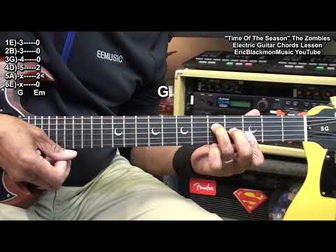 TIME OF THE SEASON The Zombies Electric Guitar Lesson EricBlackmonGuitar HQ 😎