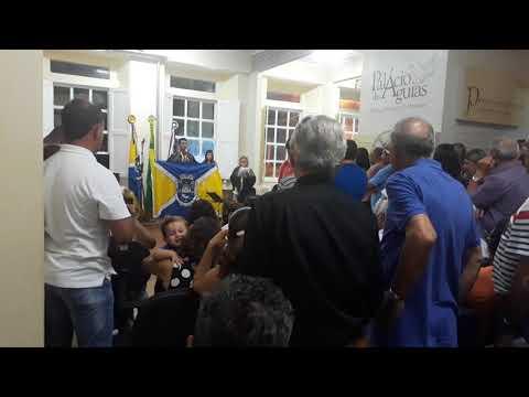 Solenidade da Academia de Letras de Marataízes, sul do ES  Bandeira do Município