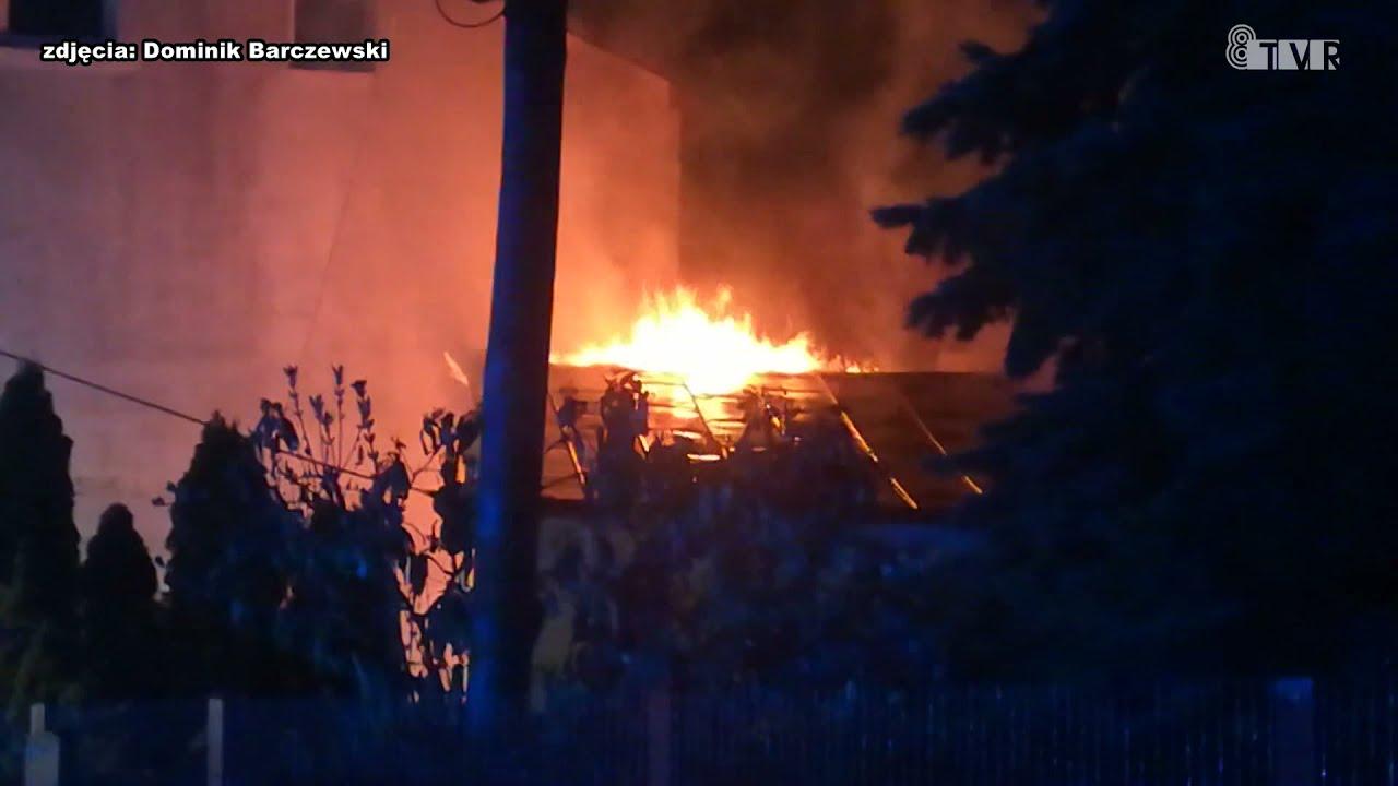 Pożar przy ul. Jana Pawła II w Sieradzu