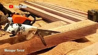 Sekedar Tahu Cara Membuat Papan Menggunakan Chainsaw
