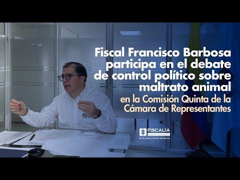 Si nosotros protegemos a nuestros animales y el entorno ambiental seremos mucho menos violentos: Fiscal Francisco Barbosa