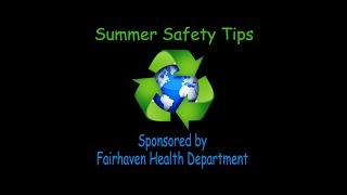 Health Dept: Summer Safety Tips