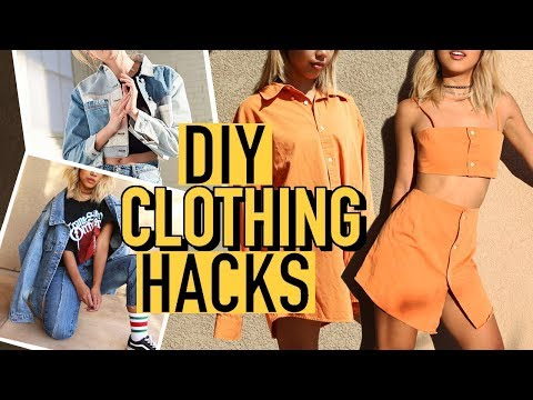 DIY URBAN OUTFITTERS CLOTHING HACKS! Turning old clothes into new! | Nava Rose