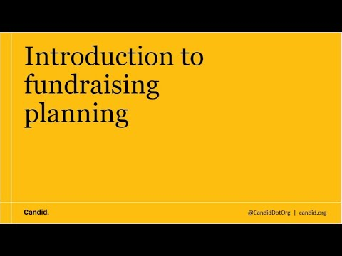 Introduction to Fundraising Planning - YouTube