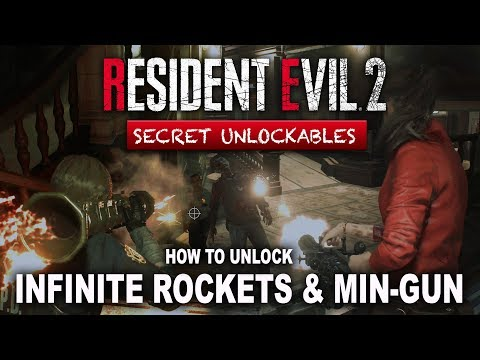 How To Unlock Infinite Ammo Rocket Launcher & Minigun In Resident Evil 2  Remake | How To S+ Rank - Where's Barry