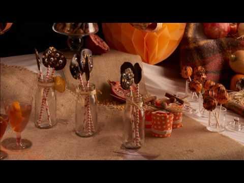 Chupa chupas de chocolate para Halloween