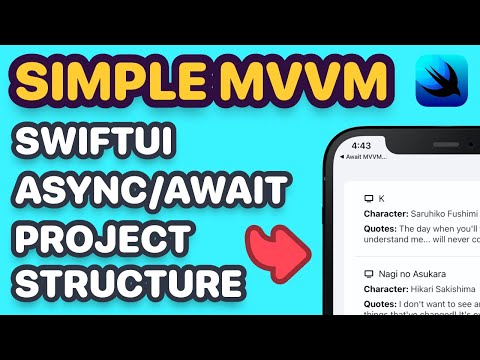 My SwiftUI Async/Await MVVM Project Structure & Approach (SwiftUI 3.0, async/await Swift, Xcode 13) thumbnail