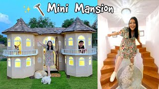 We Built A Mini Mansion! Turning My House Miniature Pt 1/2