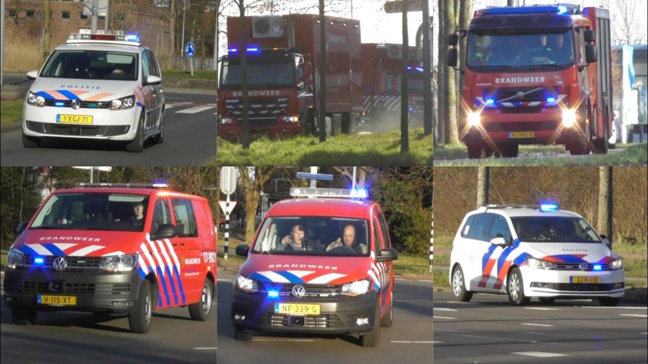 Zeer veel hulpdiensten met spoed naar een GRIP 1 Zeer grote brand in een autobedrijf in Rotterdam!
