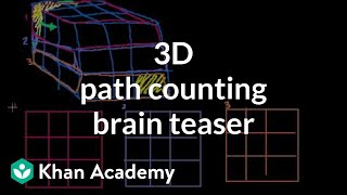 3-D Path Counting Brain Teaser