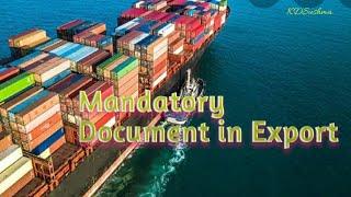 Mandatory Document in Export – RCMC?