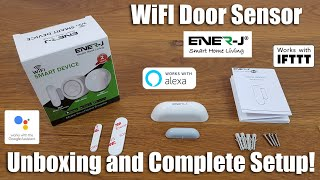 ENER-J WiFi Door Sensor | No Hub Required [Hands on Review and Test]
