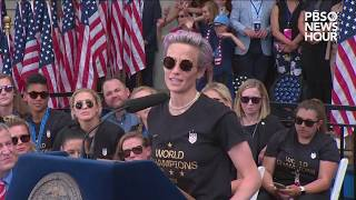 WATCH: Soccer Star Megan Rapinoe's Full Remarks At World Cup Parade