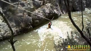 preview picture of video '04/04/15 - Tirolina al agua en Montanejos con Ayahuasca Aventuras [HD]'