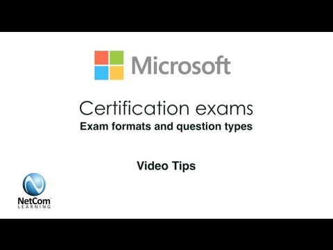 Microsoft Certification Exam Formats & Question Types - YouTube