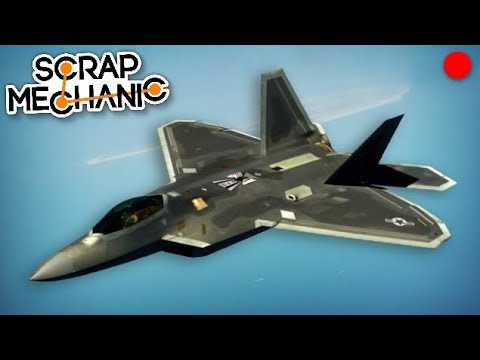 Building a Fighter Jet with Missiles! - Scrap Mechanic Live Stream