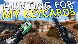 HUNTING for MY KEYCARDS! - Rust Solo #2