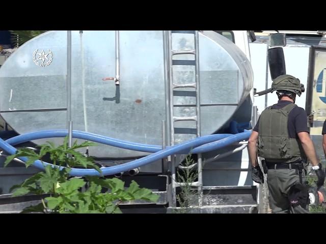 צפו: ערבים גנבו מיליון קוב מים