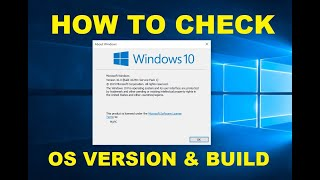 How to Find Microsoft Windows 10 OS Version and Build Number