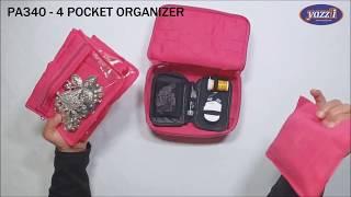 PA340 – 4 Pocket Jewel/Makeup Organiser   Yazzii Travel Bags