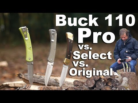 Buck 110 Knife Review.   New Pro & Select with clips compared to the original