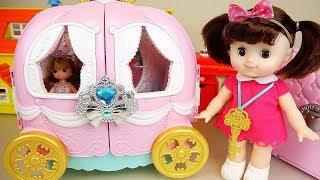 Baby doll Pumpkin carriage car toys baby Doli play