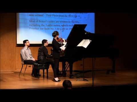 Sufan Yiu, violin Xavier Suarez, piano Britten Violin Suite