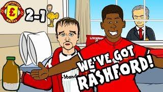 🎵WE'VE GOT RASHFORD!🎵 Man Utd vs Liverpool 2-1: THE SONG! (parody goals highlights)