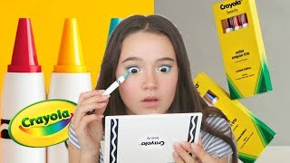 Crayola Released A MAKEUP Line And I Tried It... Fiona Frills