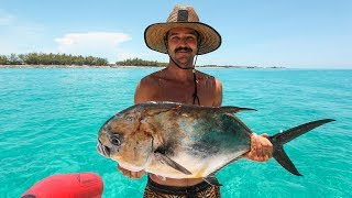 Catch and Cook: Spearfishing CARIBBEAN FISH, 🔥 on the Beach!