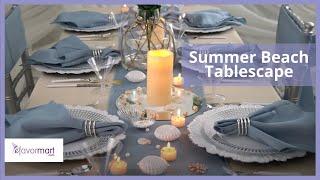 Summer Beach Tablescape | DIY Party Decorations | EFavormart.com