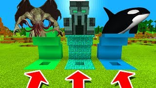 Minecraft PE : DO NOT CHOOSE THE WRONG HOLE! (Cthulhu, The Admin Boss & Orca)