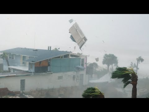 4K footage of Hurricane Michael's eye wall impacts in Panama City Beach.