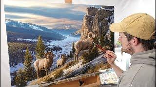 Landscape Painting Time-lapse   Western Beauty