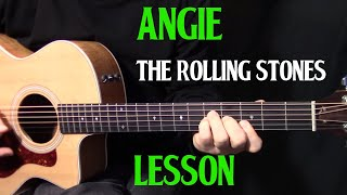how to play Angie on guitar by the Rolling Stones - acoustic guitar lesson_tutorial