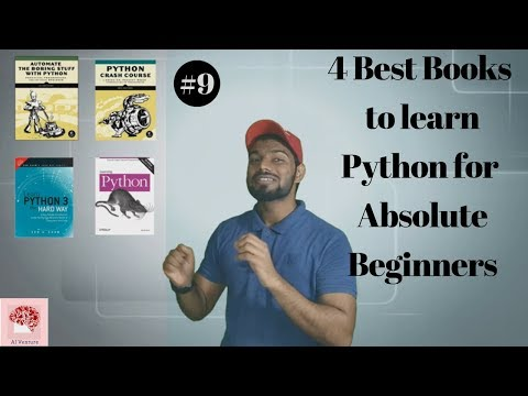 4 Best books to learn python 3 for  Absolute Beginners