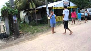preview picture of video 'Bike ride through Placencia village, Belize'