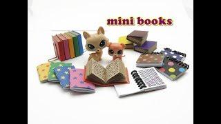 DIY Miniature Doll Mini Books - 3 Different Types!